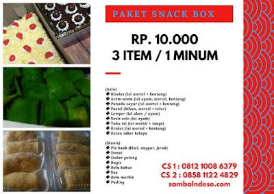Order Kue Makanan Kotak isi 3 isi 4 di Bintaro