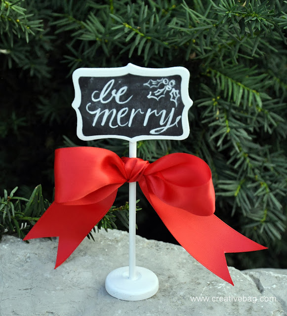 chalkboard art inspired holiday decorating ideas by Creative Bag