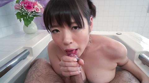 Jav HD Stuning Nao Mizuki Japanese handjob in the tub