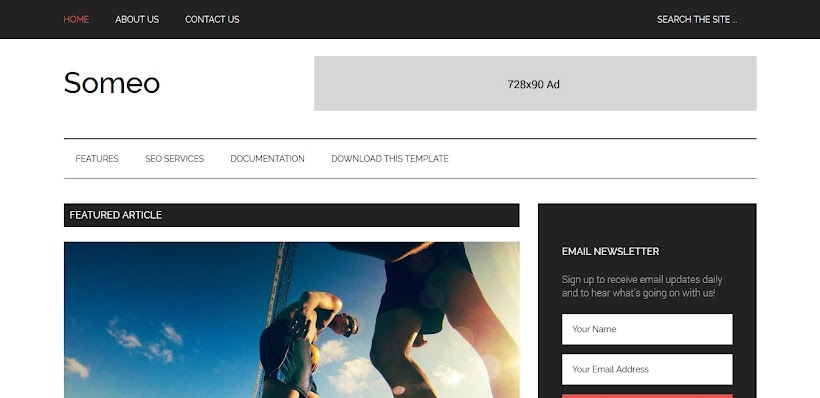 Someo Free Blogger Template