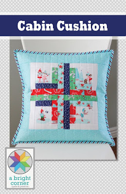 Cabin Cushion pillow pattern by Andy Knowlton