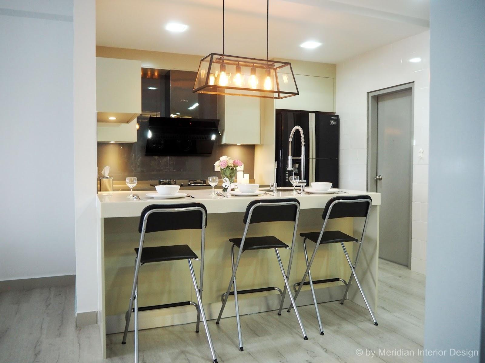 Meridian interior design and kitchen design in kuala for Kitchen design for condo