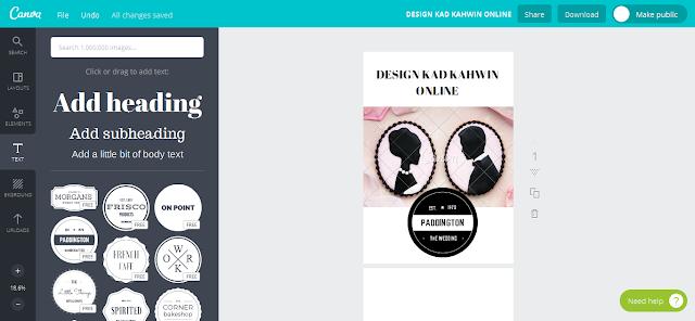 Buat Design Kad Kahwin Online