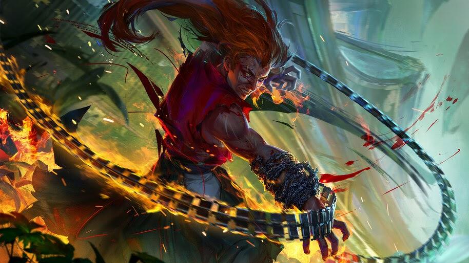 Fantasy, Warrior, Chain, Weapon, 4K, #4.987