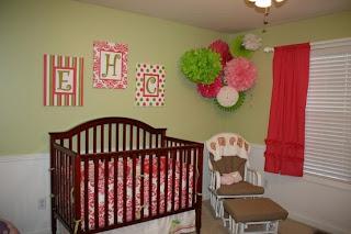 Cuarto para bebé rosa verde