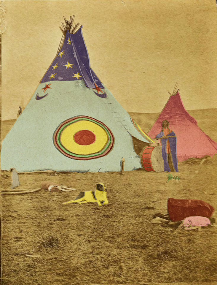 Native American Indian Pictures Sioux Indian Tipi With Sun Moon