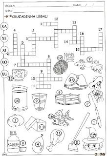 Atividade alfabetização com a Letra X