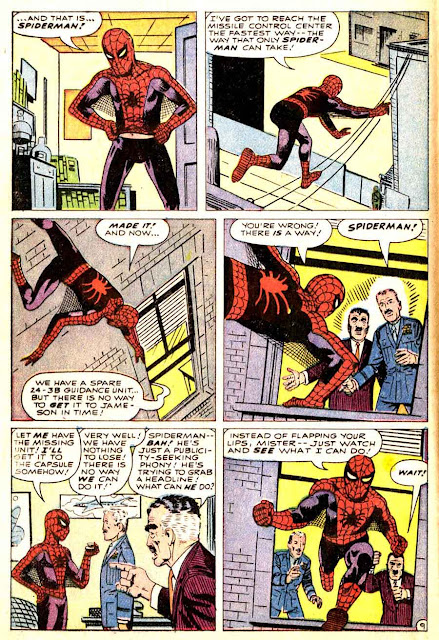 Amazing Spider-man v1 #1 1963 marvel comic book page art by Steve Ditko