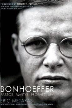 http://www.amazon.com/Bonhoeffer-Pastor-Martyr-Prophet-Spy/dp/1595551387/ref=tmm_hrd_swatch_0?_encoding=UTF8&sr=&qid=