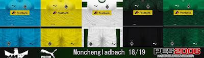 PES 6 Kits Borussia Mönchengladbach Season 2018/2019 by Ahmed Wahba