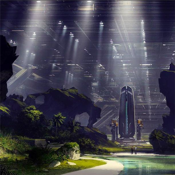 Artă conceptuală realizată de Neill Blomkamp (District 9, Elysium) pentru noul film ALIEN