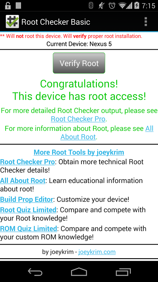 root checker 5.0.7 apk