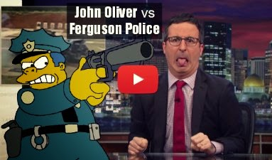 Watch how John Oliver takes on Ferguson Police Shooting regarding Michael Brown death via geniushowto.blogspot.com police brutality videos