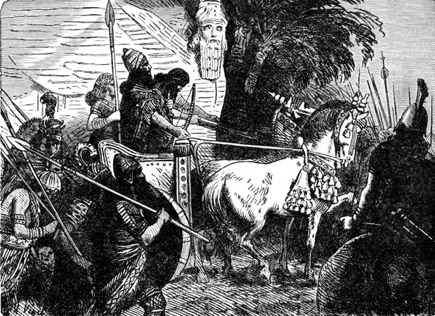 Soldiers of Assyria Going to Battle