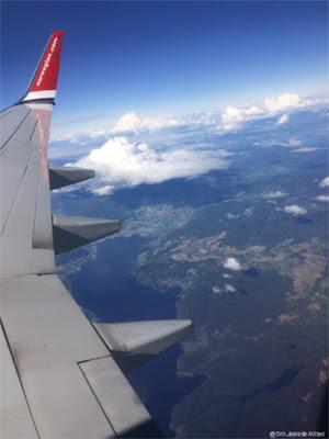 Flyturen, på vei til Spania.