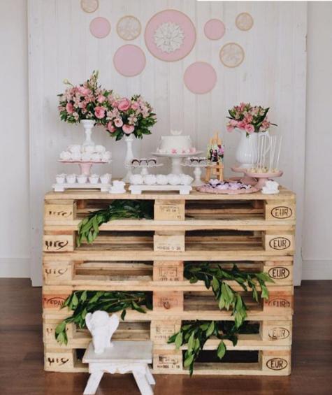 101 fiestas 10 ideas para un bautizo con palets - Ideas rusticas para decorar ...