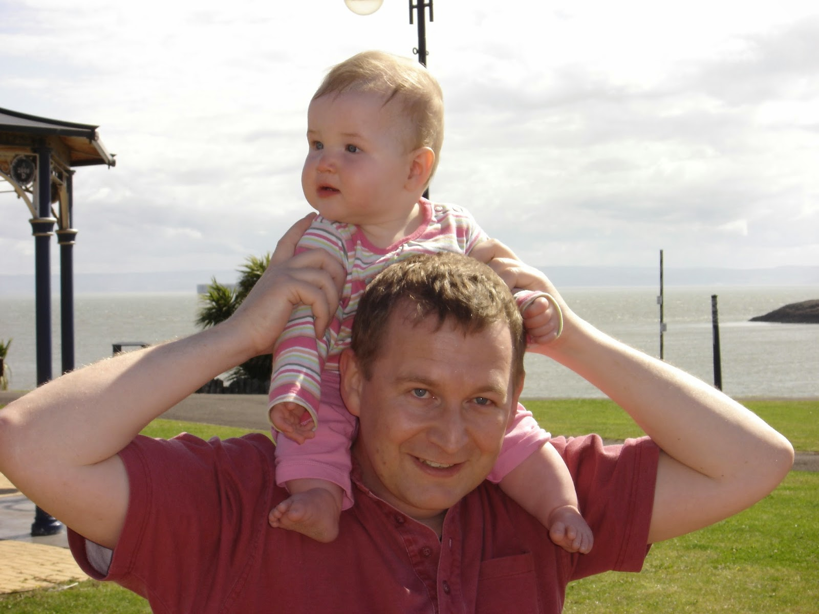 Dad and Caitlin at Barry Island
