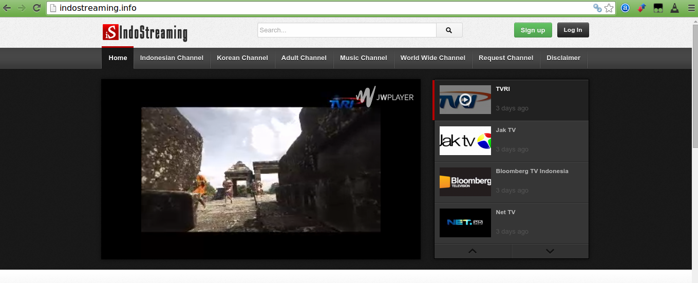 IndoStreaming, Streaming TV Online Terlengkap
