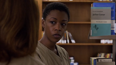 Orange is the new black season 4 Netflix poussey library julius caesar