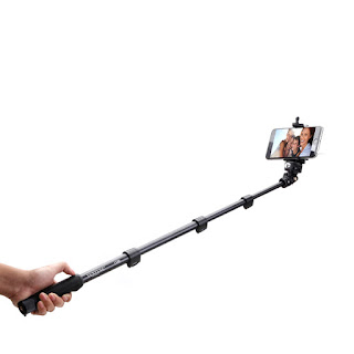 YT-1188 Selfie Stick Monopod Tongsis with Built-in AUX Cable and Phone Clip