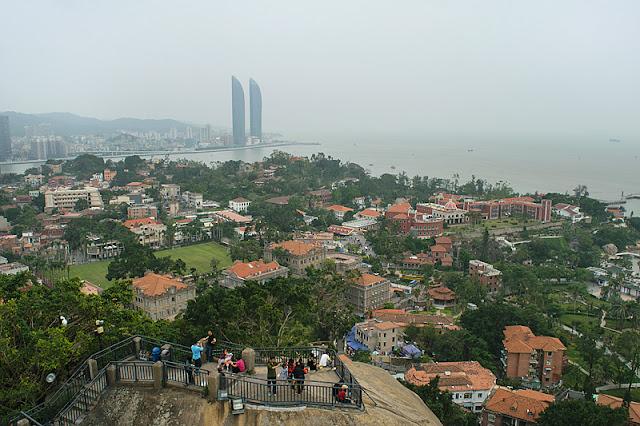 Panorama depuis le point culminant de l'île de Gulangyu