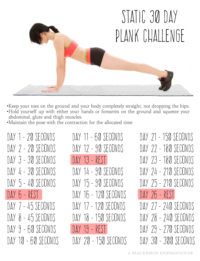 30 Day Plank Challenge | A Blackbird's Epiphany - UK Women ...