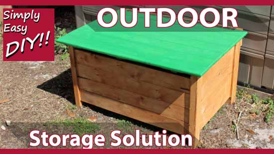 An outdoor storage chest that is both kid friendly and easy to build. Thatu0027s what we do here. As a parent itu0027s important that you do everything you can to ... & Simply Easy DIY: Outdoor Storage Chest - KID SAFE
