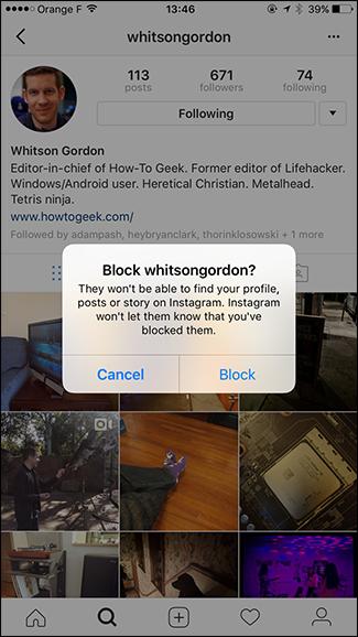 Cara memblokir seseorang di instagram + gambar