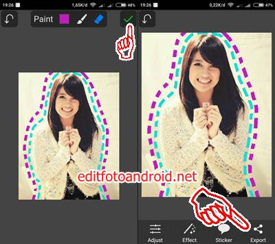 Edit Foto Garis Putus Putus