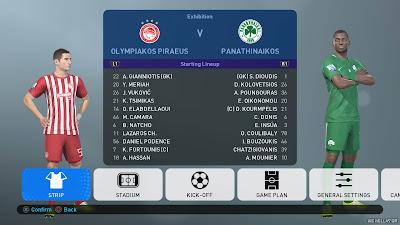 PES 2019 PS4 Option File Superleague Greece Season 2018/2019