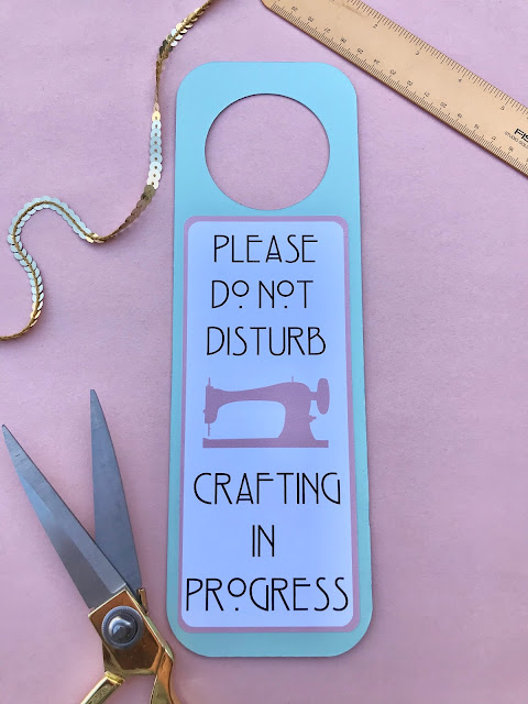 Create your own Do Not Disturb Sign with Cricut and a Cereal Box!