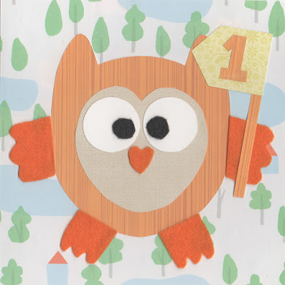 Owl card by Claire Noble