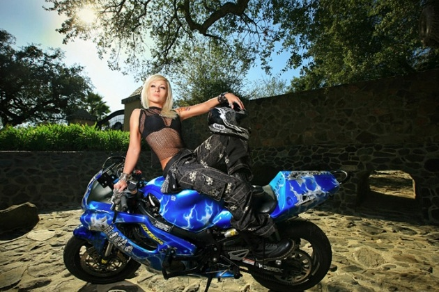 auto zone for speed lovers  bike and girls wallpaper