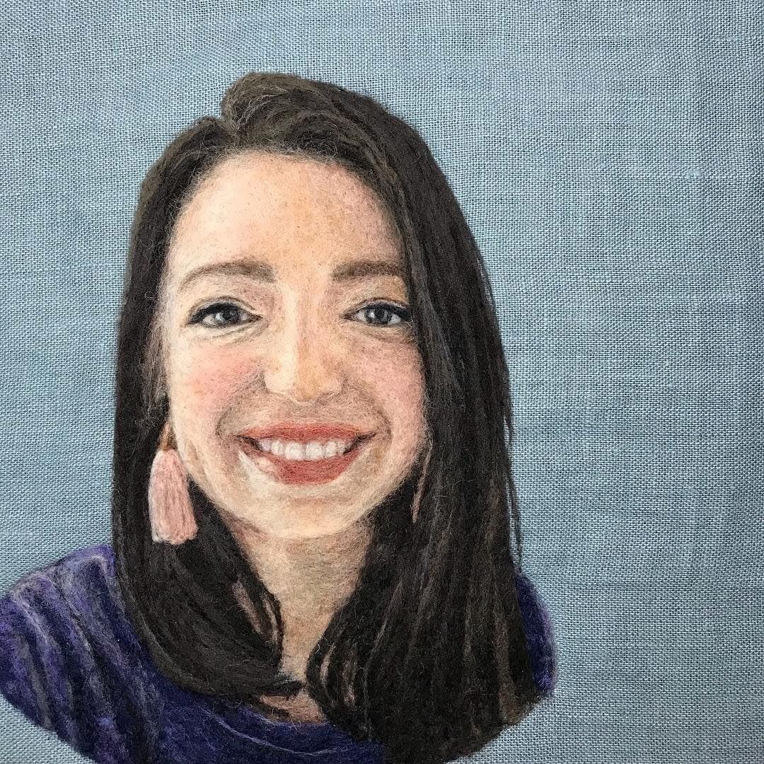 15-Self-Portrait-Dani-Ives-Needle-felting-Wool-and-Needle-Animal-Portraits-www-designstack-co