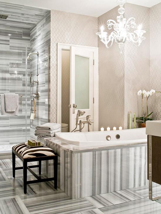 Neutral Color Bathroom Design Ideas: New Home Interior Design: Neutral Color Bathroom Design Ideas