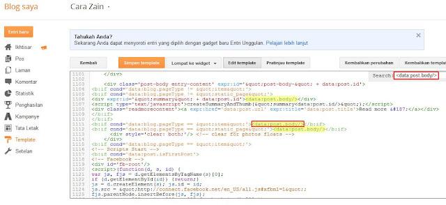 Cara Memasang Iklan Di Bawah/Atas Posting Blog Terbaru