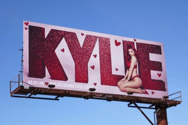 Kylie Cosmetics Valentines Day billboard