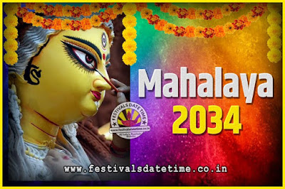 2034 Mahalaya Puja Date and Time Kolkata, 2034 Mahalaya Calendar