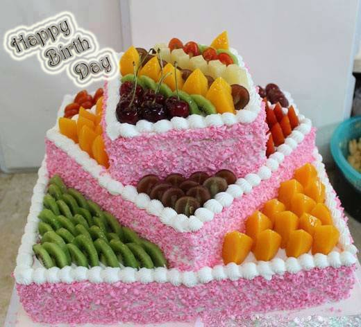 happy birth day fruits cake wallpaper