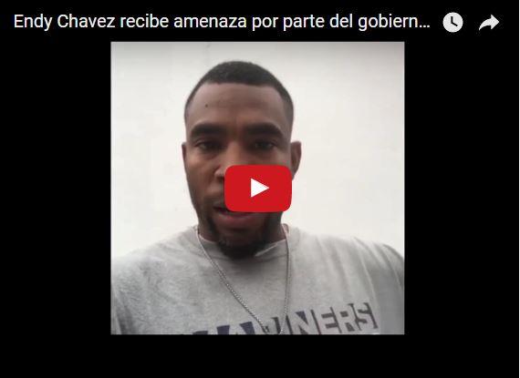 Beisbolista Endy Chavez denuncia amenazas del régimen