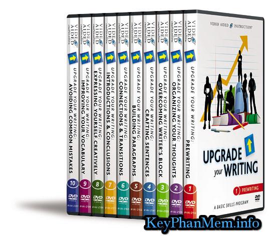 Bộ đĩa 10DVD dạy wrting tiếng Anh tuyệt vời,VAI Upgrade your Writing