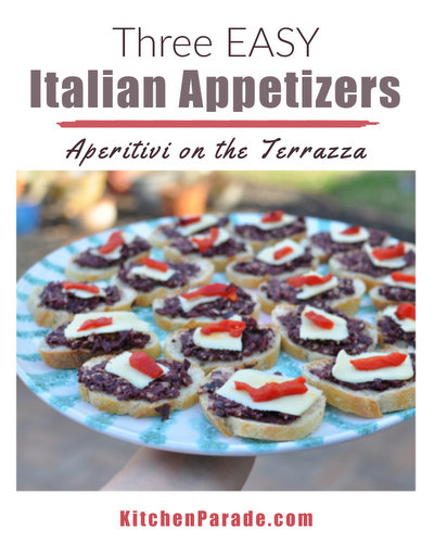 Three Easy Italian Appetizers ♥ KitchenParade.com, make ahead then quickly assemble. Low Cal. Low Carb. Pretty on a Plate. Weight Watchers Friendly.