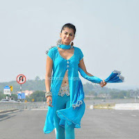 Tapsee Hot Show In Mogudu wearing blue salwar kameez