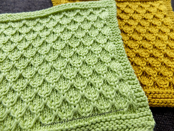 Mock Honeycomb Knit Dishcloth. Free pattern #11 from KnittingUnlimited.blogspot.com