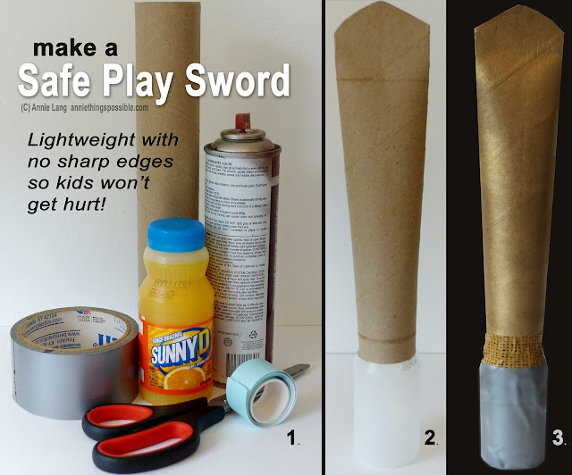 Annie Lang's quick and easy party prop for a medieval themed party