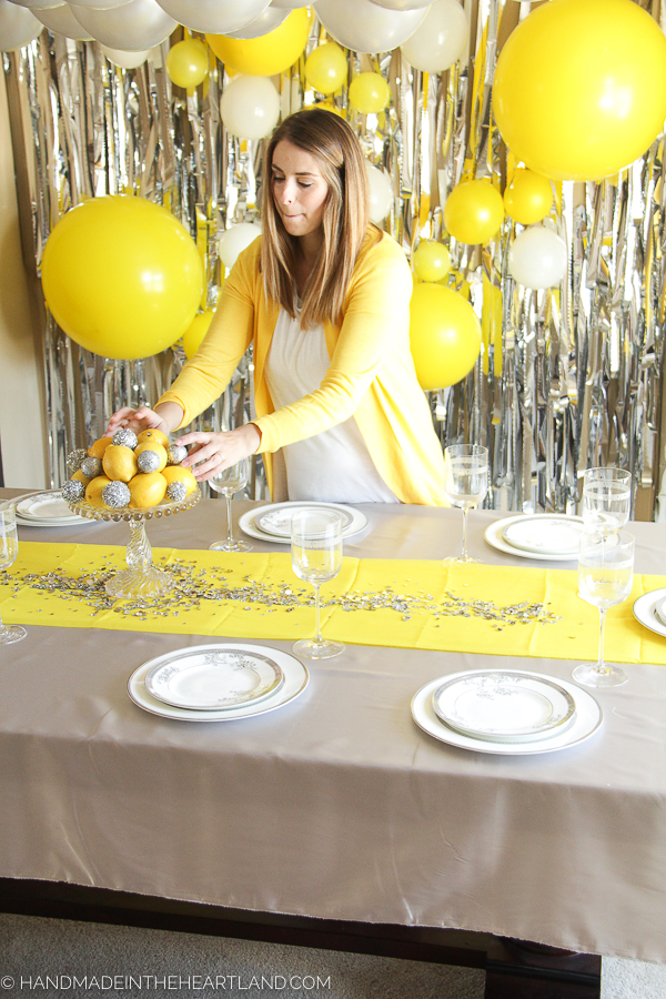 bright and happy party decor for new year's party