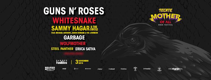 GUNS N'ROSES junto a ERUCA SATIVA en el Mother Of All - Rock Festival 2018