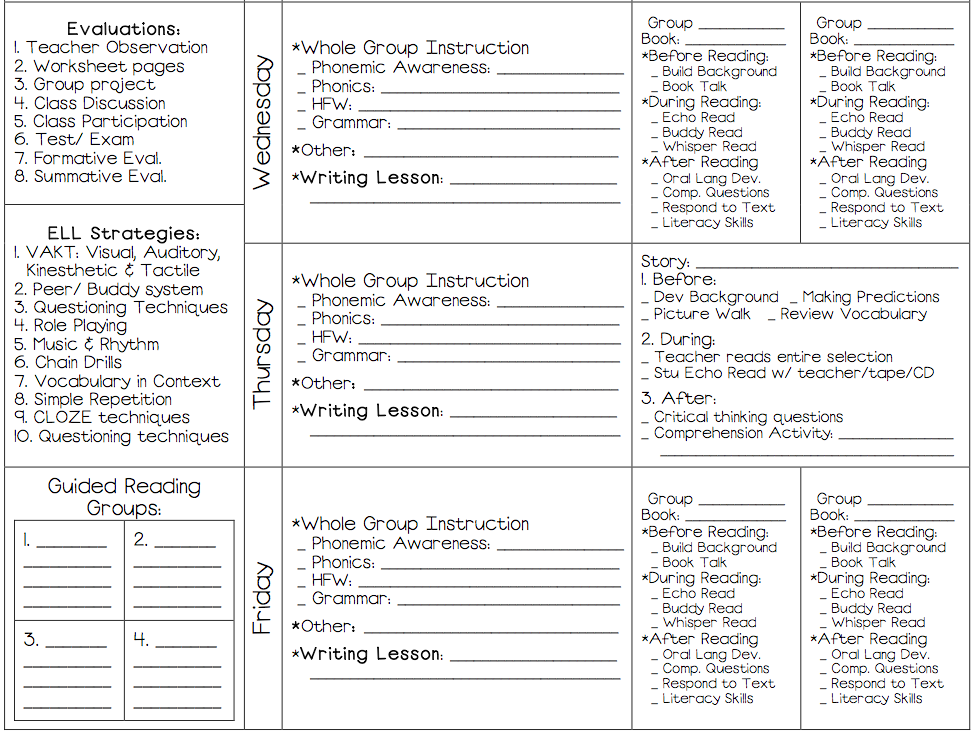 writing workshop lesson plan template - lucy calkins lesson plan template search results