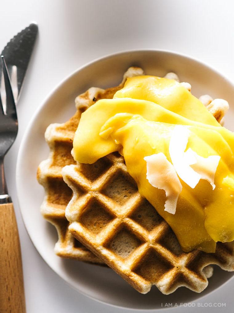 PUNTXET Receta fácil de gofres con mango