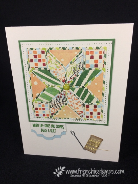 Quilted Builder Framelits, Feather Together, Painted Autumn Designer paper, Stampin'Up!